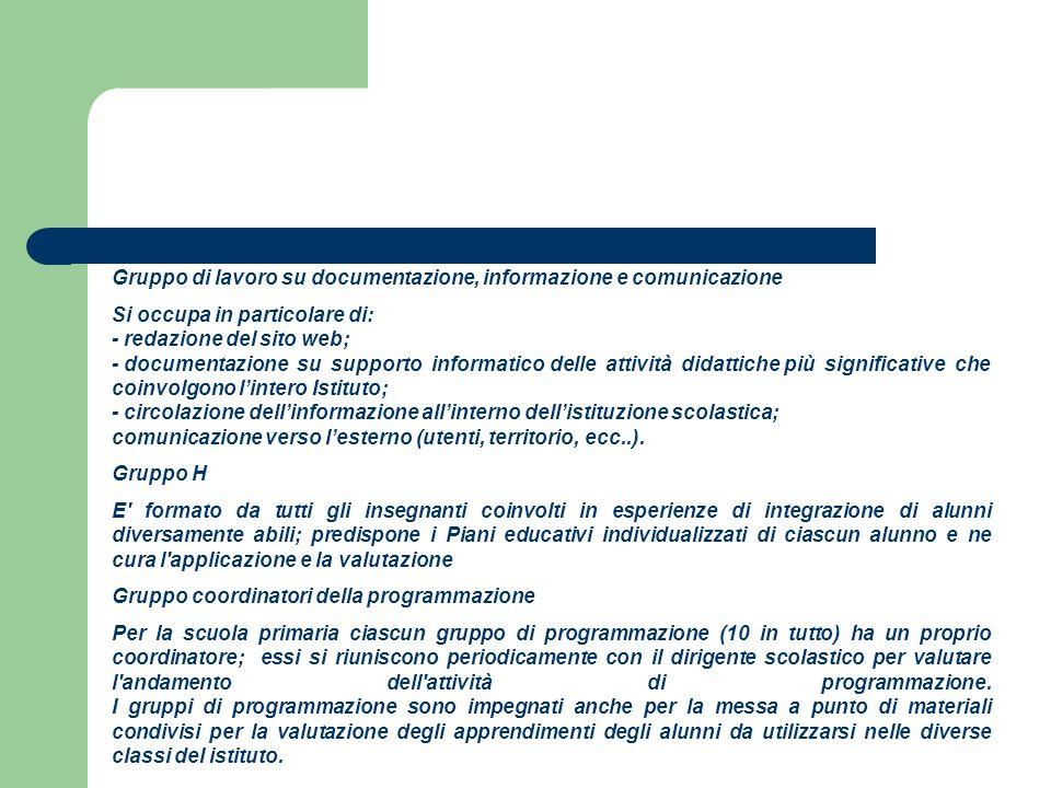 Gruppo di lavoro su documentazione, informazione e comunicazione