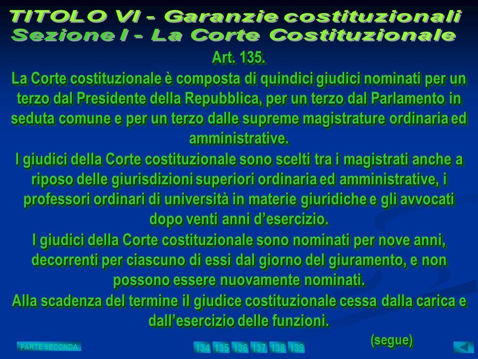 TITOLO VI - Garanzie costituzionali