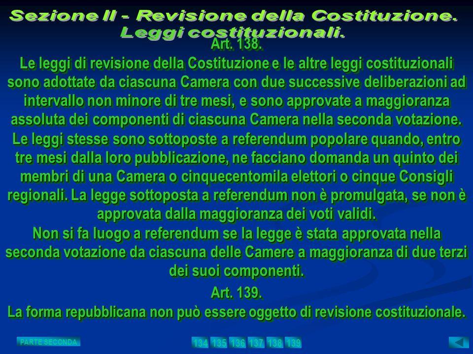 Sezione II - Revisione della Costituzione.