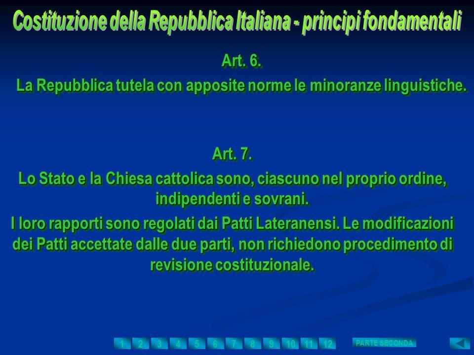 La Repubblica tutela con apposite norme le minoranze linguistiche.