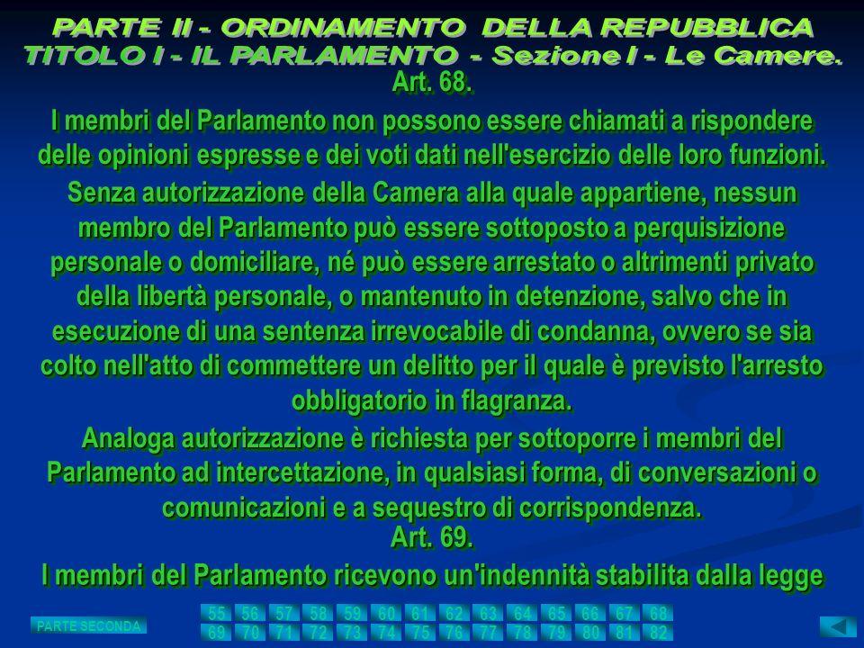 I membri del Parlamento ricevono un indennità stabilita dalla legge