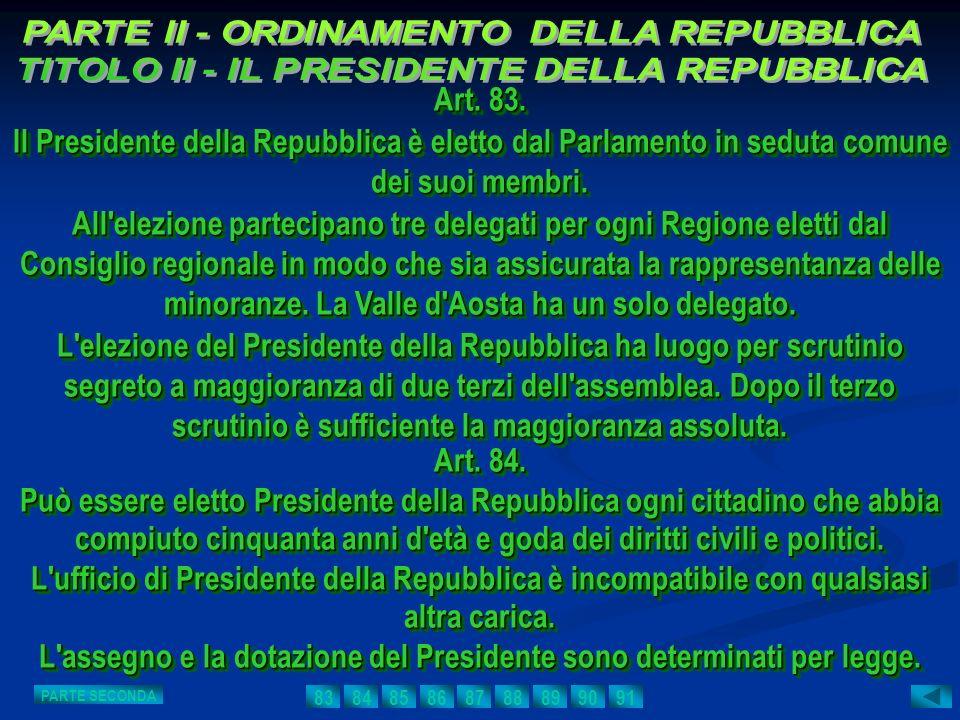 L assegno e la dotazione del Presidente sono determinati per legge.