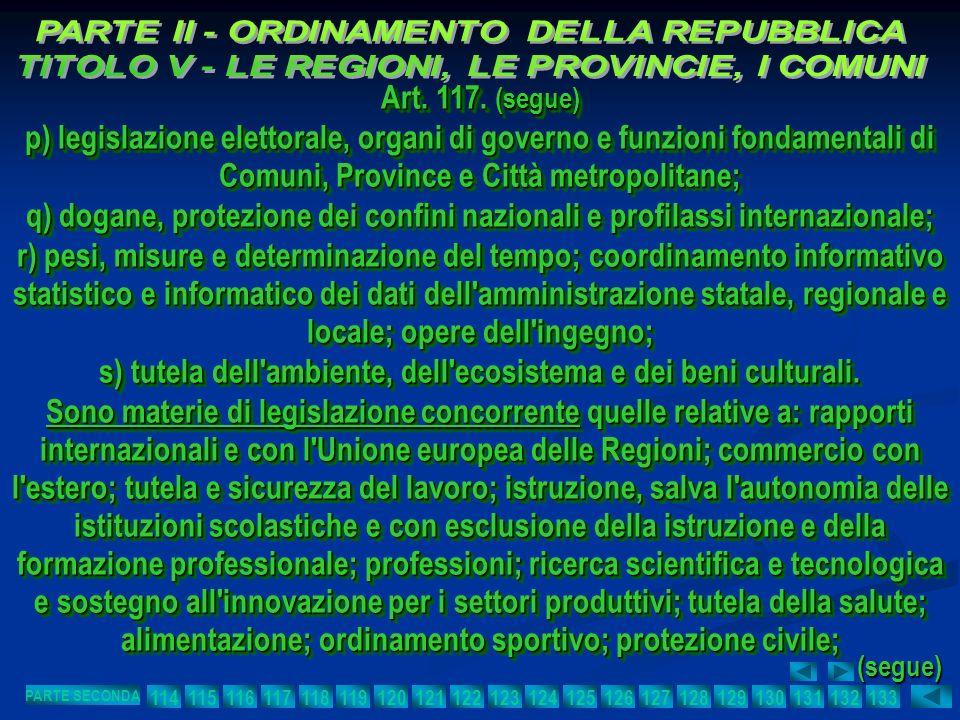 s) tutela dell ambiente, dell ecosistema e dei beni culturali.
