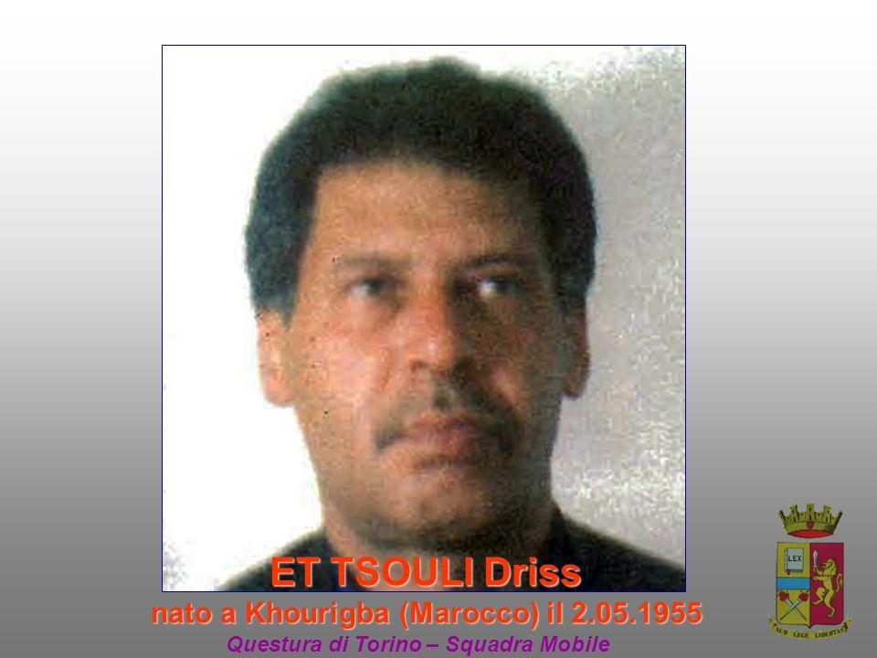 ET TSOULI Driss nato a Khourigba (Marocco) il 2.05.1955