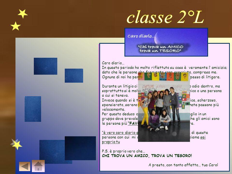 classe 2°L Caro diario… Caro diario…