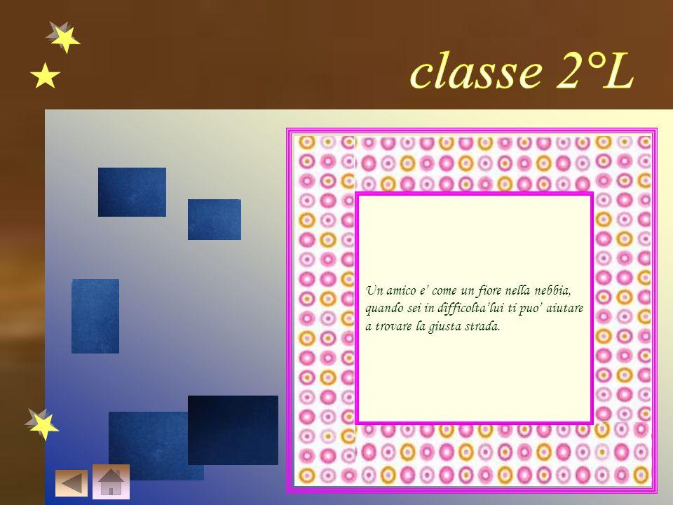 classe 2°L Un amico e' come un fiore nella nebbia,