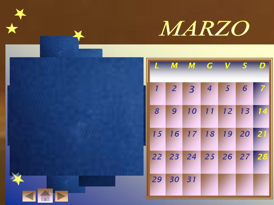MARZO L. M. G. V. S. D. 1. 2. 3. 4. 5. 6. 7. 8. 9. 10. 11. 12. 13. 14. 15. 16.