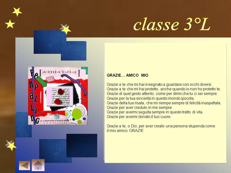 classe 3°L GRAZIE… AMICO MIO AMICA MIA
