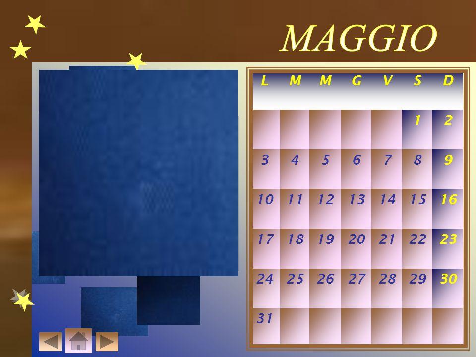 MAGGIO L. M. G. V. S. D. 1. 2. 3. 4. 5. 6. 7. 8. 9. 10. 11. 12. 13. 14. 15. 16.