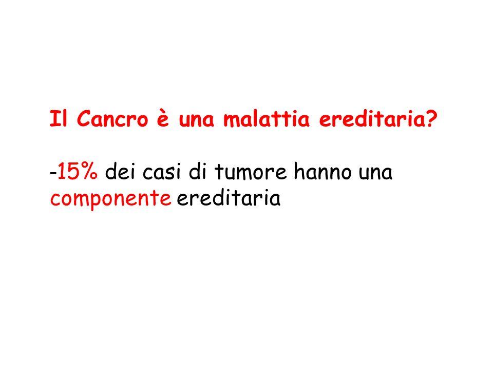 Il Cancro è una malattia ereditaria