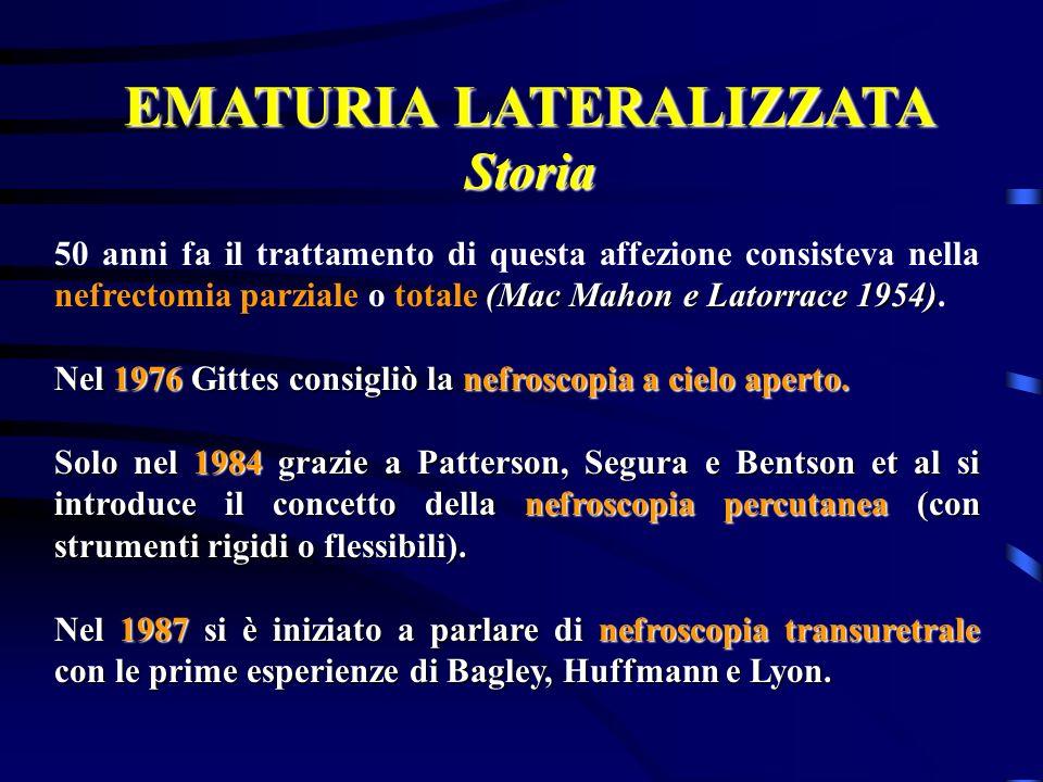 EMATURIA LATERALIZZATA