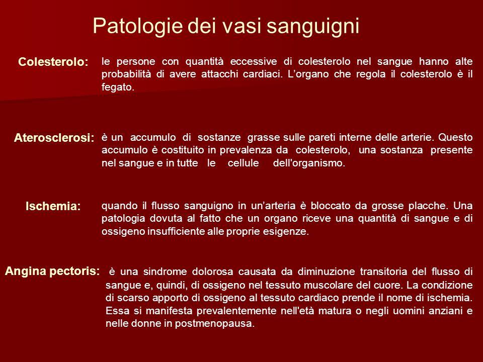 Patologie dei vasi sanguigni