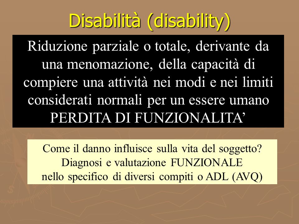 Disabilità (disability)