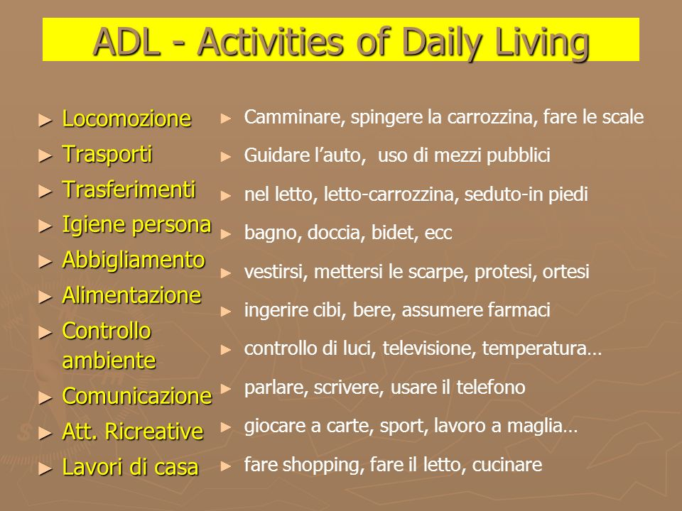 ADL - Activities of Daily Living