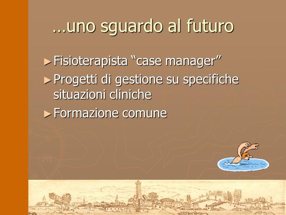 …uno sguardo al futuro Fisioterapista case manager