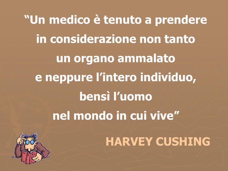 Un medico è tenuto a prendere in considerazione non tanto un organo ammalato e neppure l'intero individuo, bensì l'uomo nel mondo in cui vive