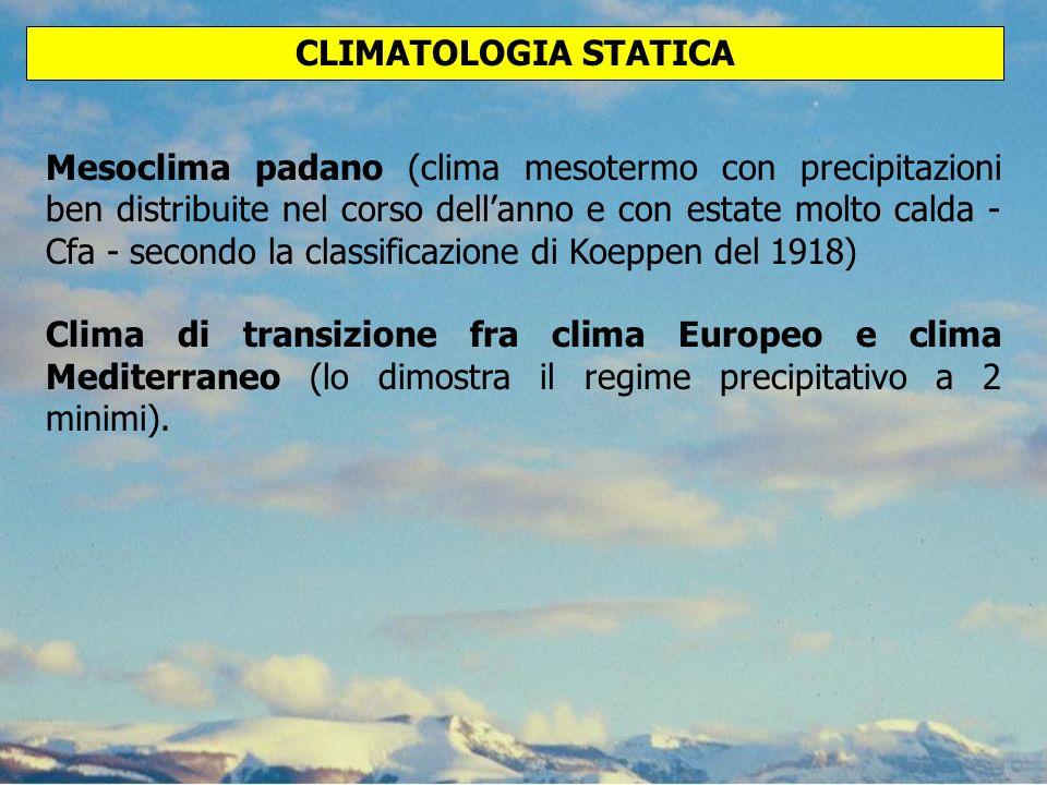 CLIMATOLOGIA STATICA