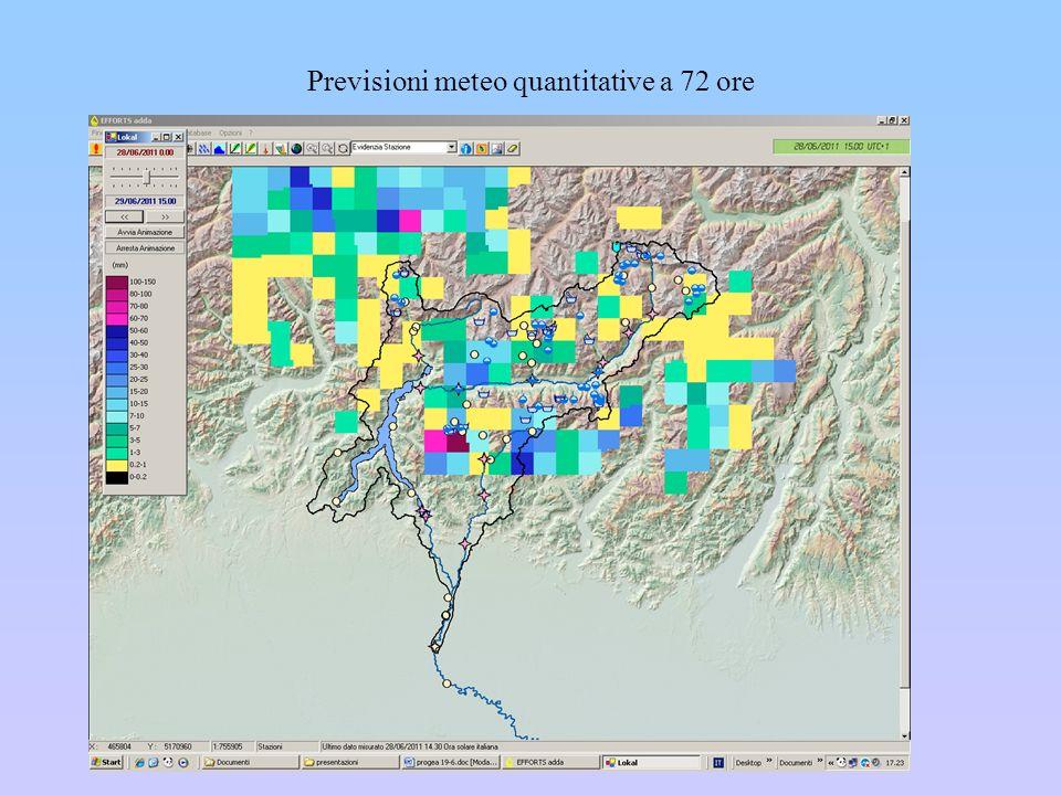 Previsioni meteo quantitative a 72 ore