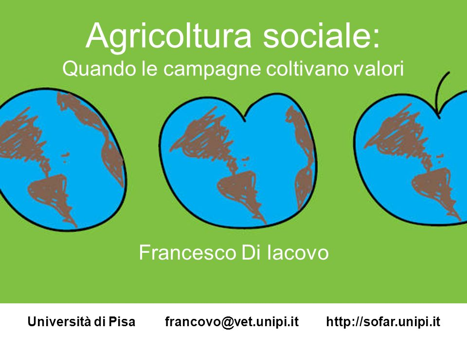 Università di Pisa francovo@vet.unipi.it http://sofar.unipi.it