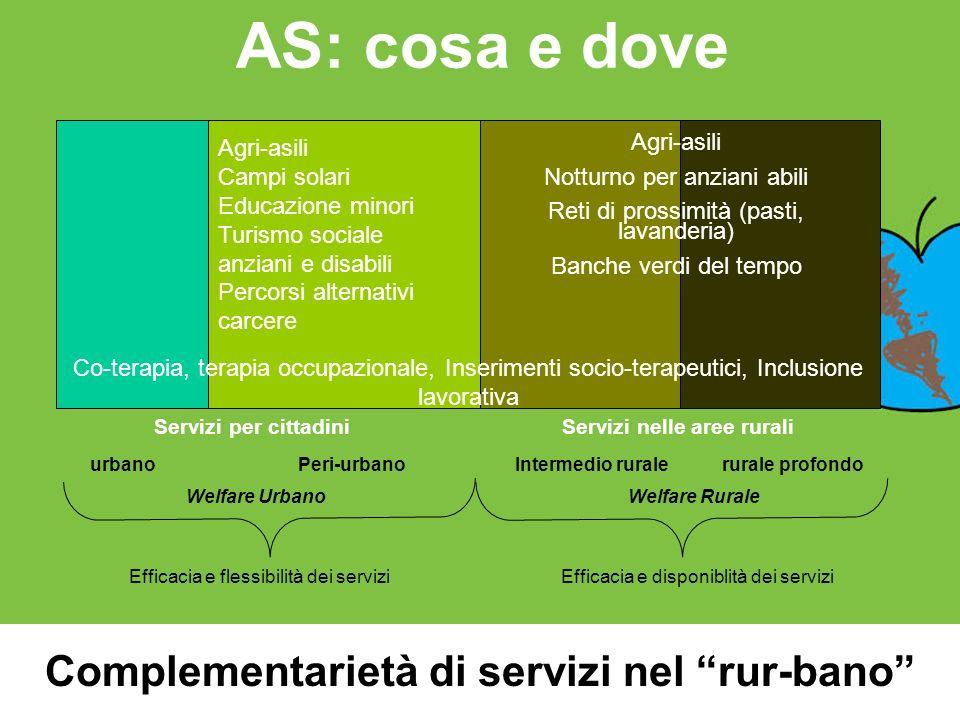 Complementarietà di servizi nel rur-bano