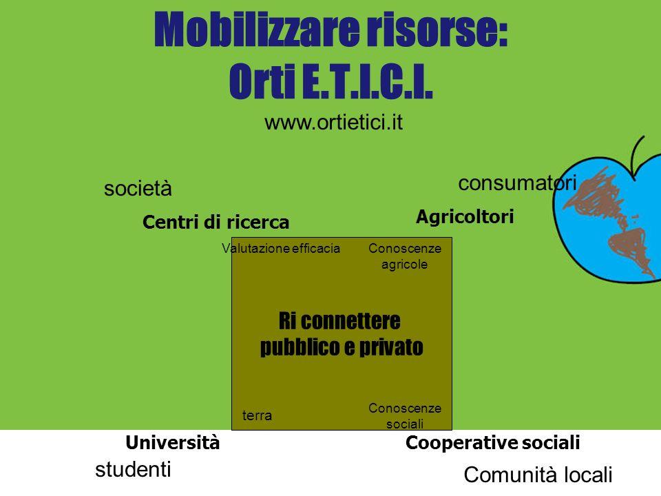 Mobilizzare risorse: Orti E.T.I.C.I.