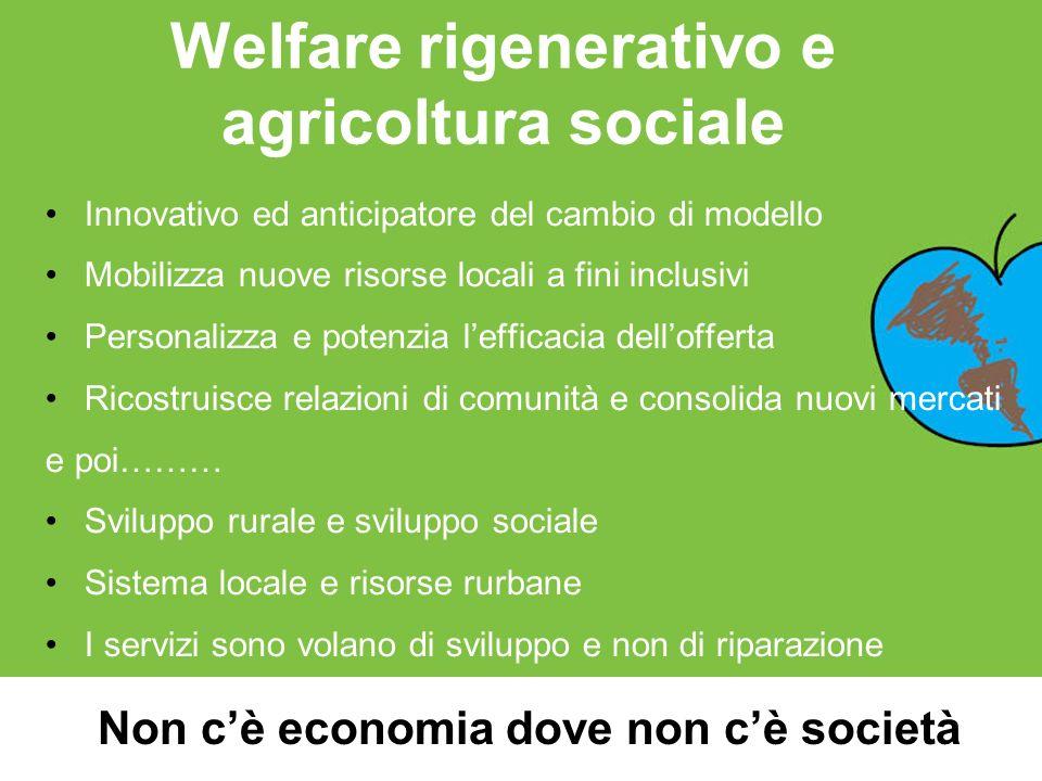 Welfare rigenerativo e agricoltura sociale