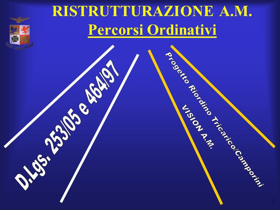 RISTRUTTURAZIONE A.M. Percorsi Ordinativi