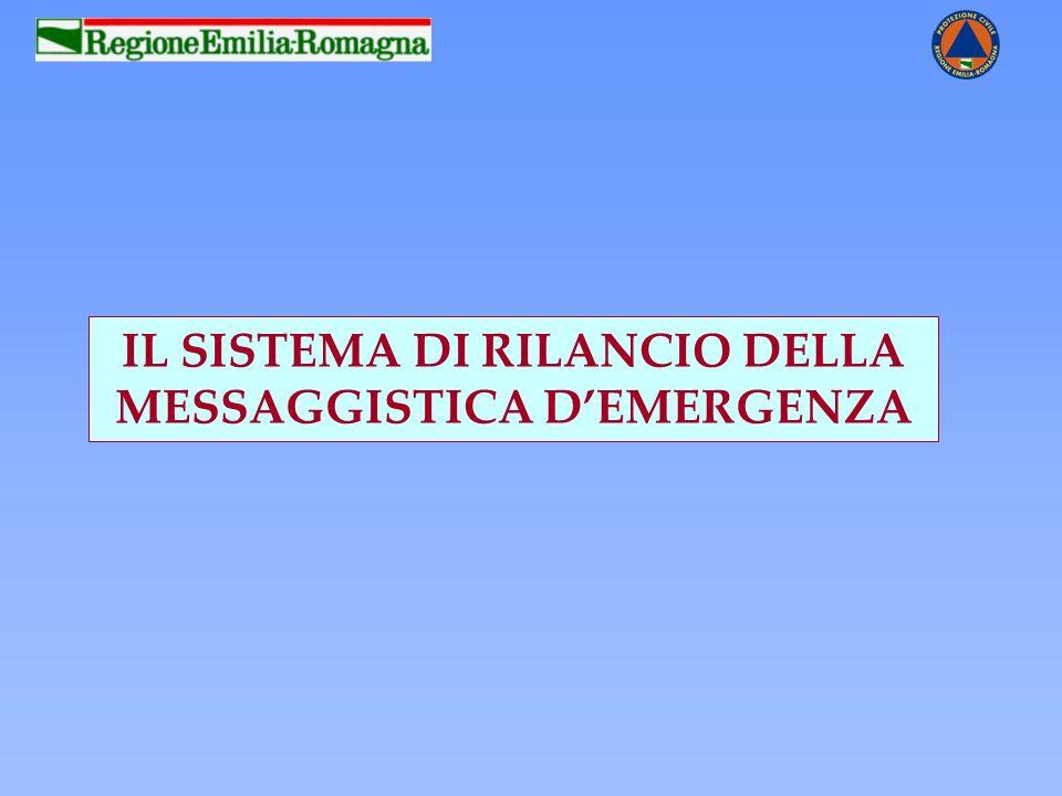 IL SISTEMA DI RILANCIO DELLA MESSAGGISTICA D'EMERGENZA