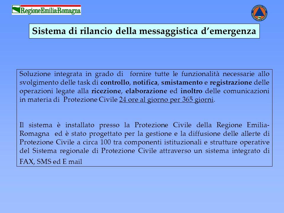 Sistema di rilancio della messaggistica d'emergenza