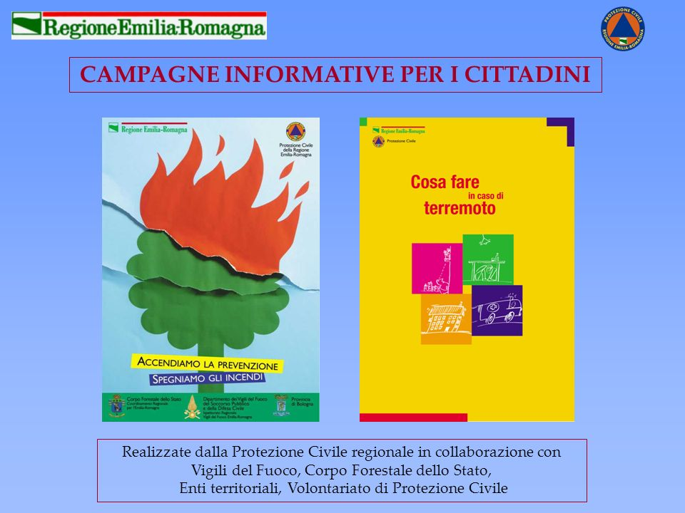 CAMPAGNE INFORMATIVE PER I CITTADINI