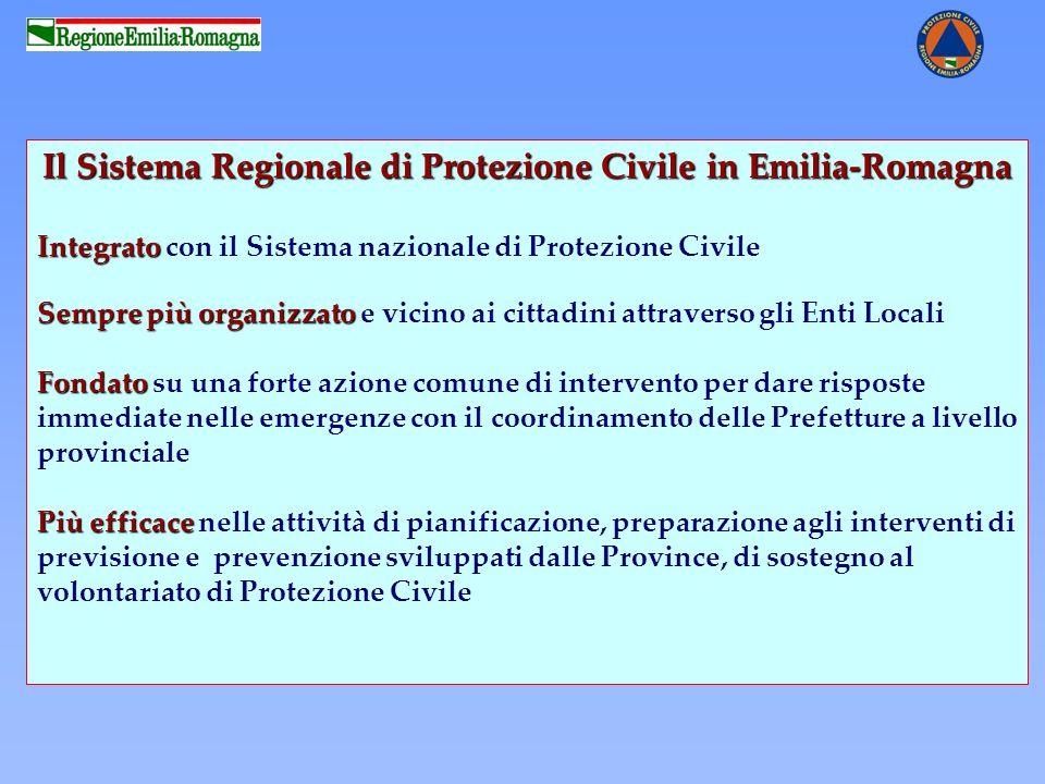 Il Sistema Regionale di Protezione Civile in Emilia-Romagna