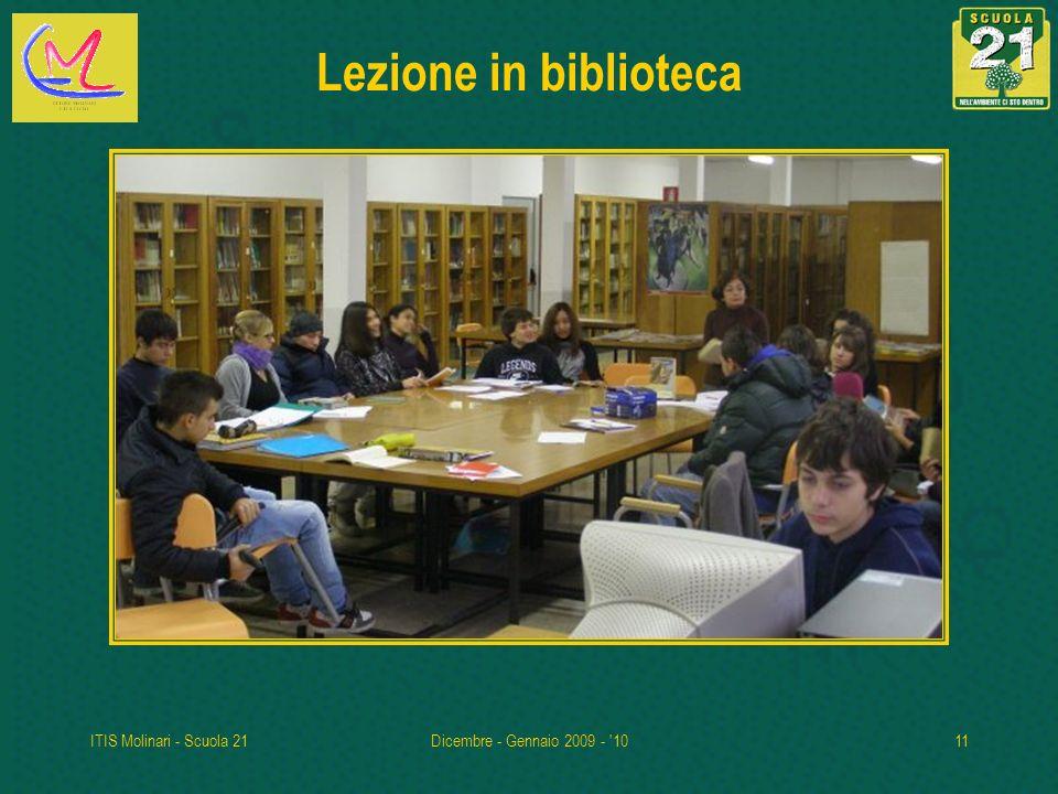 Lezione in biblioteca ITIS Molinari - Scuola 21