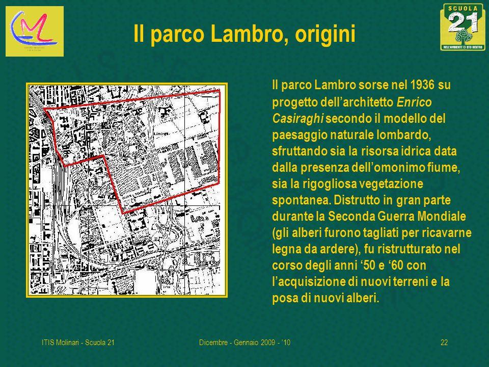 Il parco Lambro, origini