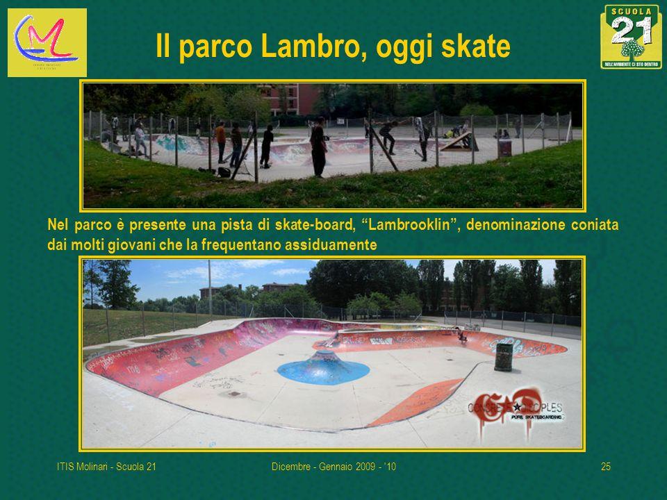 Il parco Lambro, oggi skate