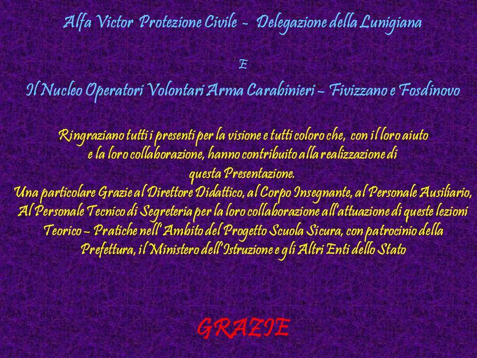 GRAZIE Alfa Victor Protezione Civile - Delegazione della Lunigiana