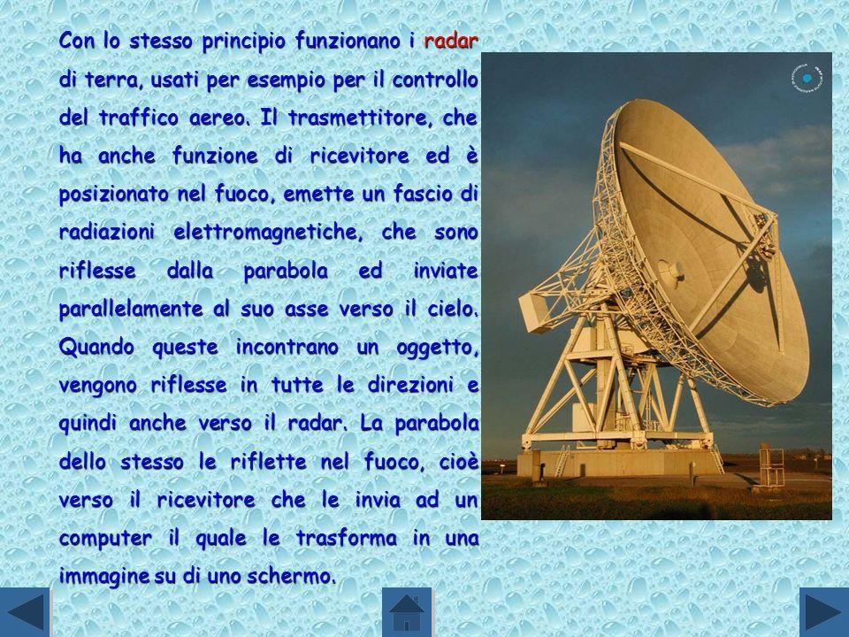 Con lo stesso principio funzionano i radar di terra, usati per esempio per il controllo del traffico aereo.
