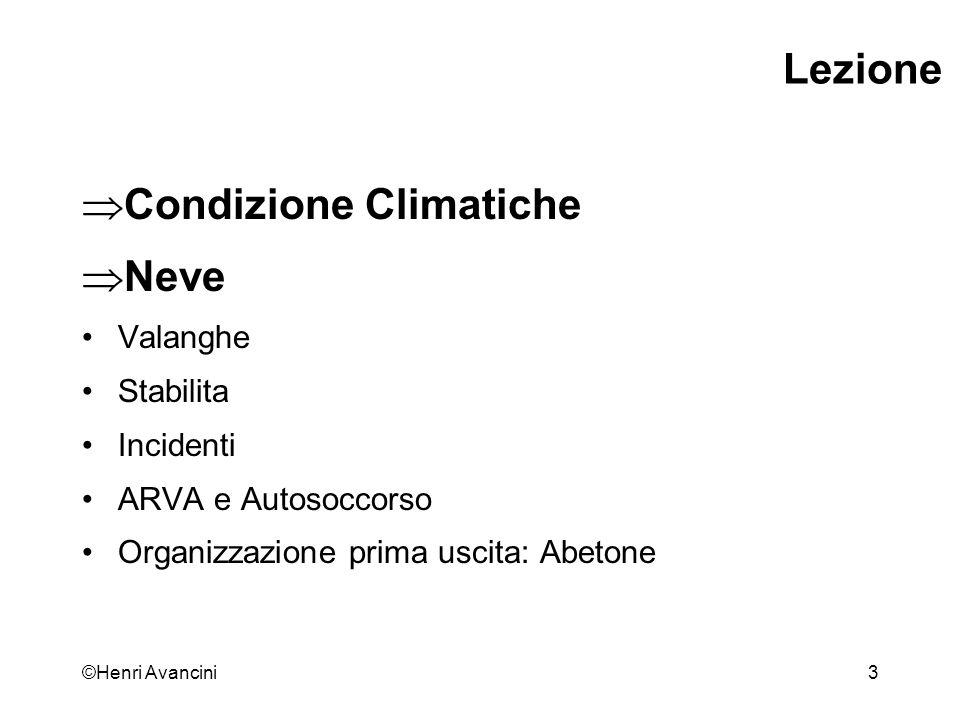 Condizione Climatiche Neve