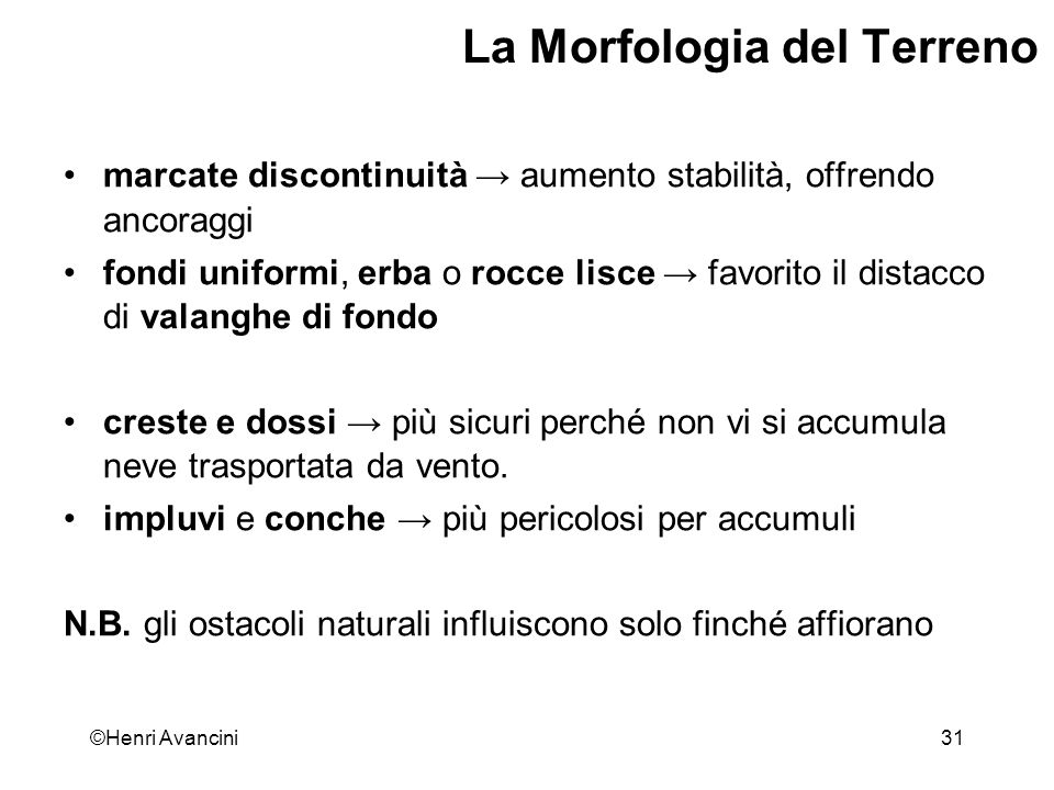 La Morfologia del Terreno