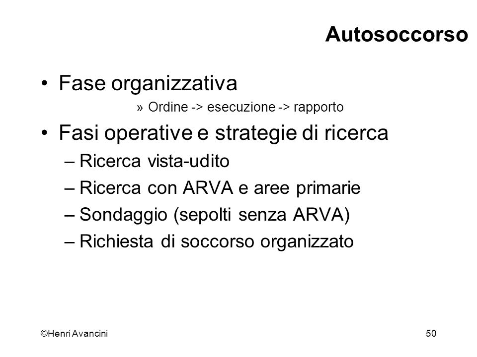 Fasi operative e strategie di ricerca