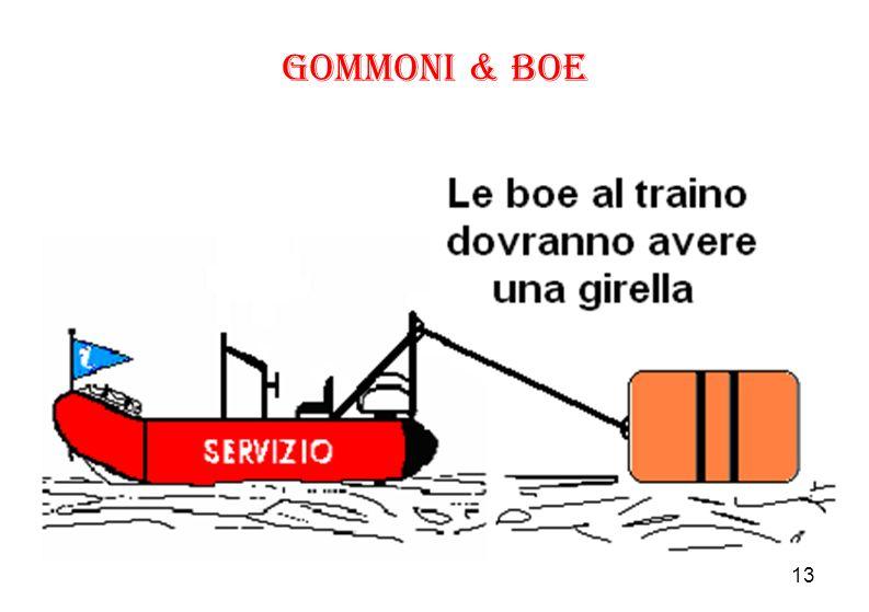 Gommoni & Boe Le boe al traino dovranno avere sempre una girella per evitare l'attorcigliamento della cima di traino che può anche.