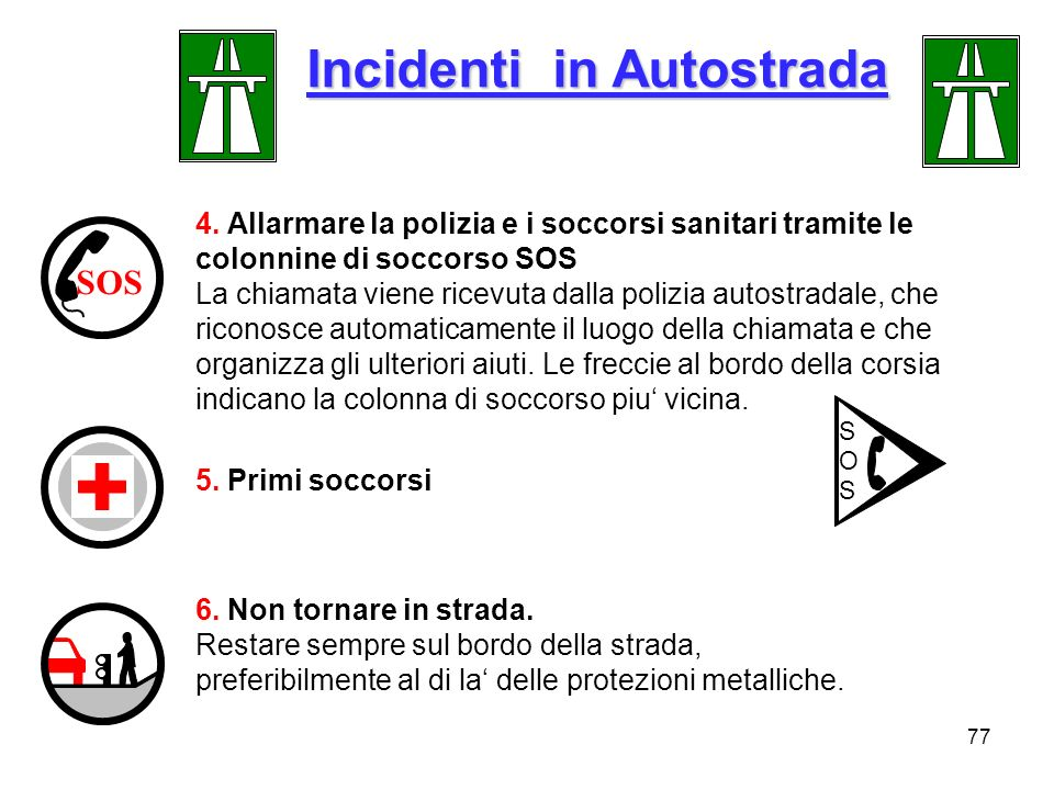 Incidenti in Autostrada