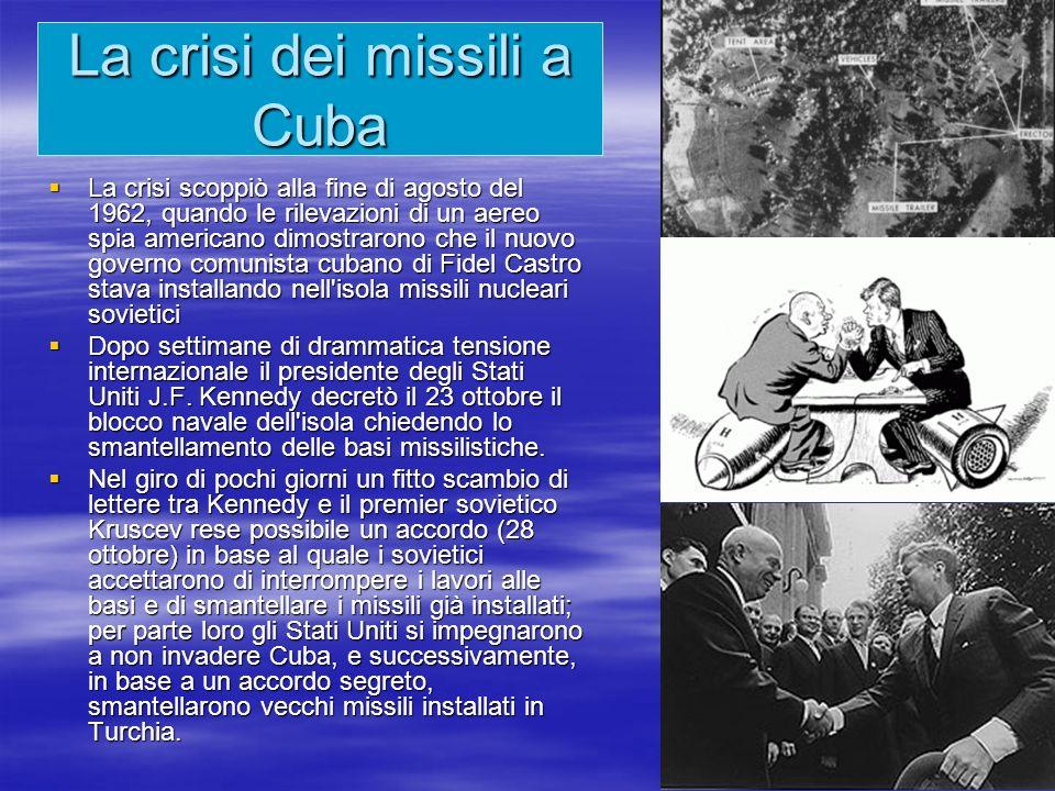 La crisi dei missili a Cuba