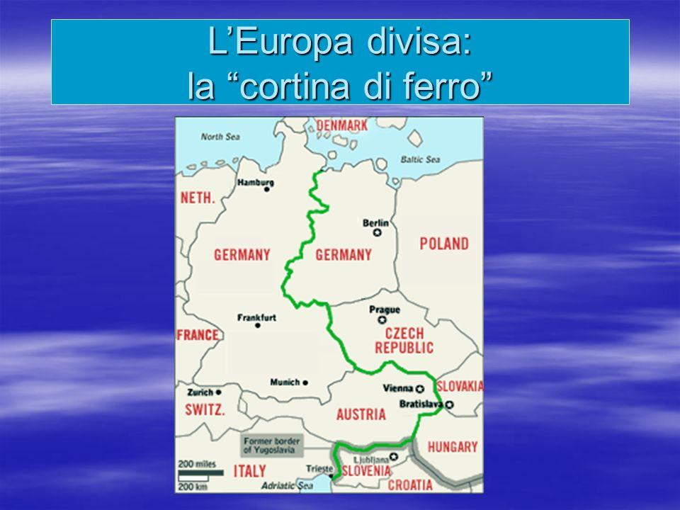 L'Europa divisa: la cortina di ferro
