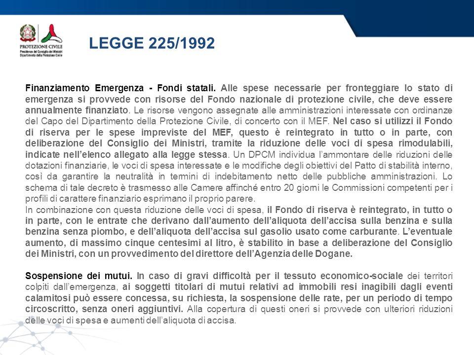 LEGGE 225/1992
