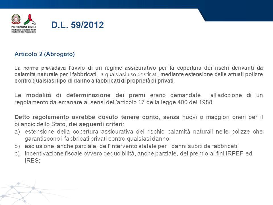 D.L. 59/2012 Articolo 2 (Abrogato)