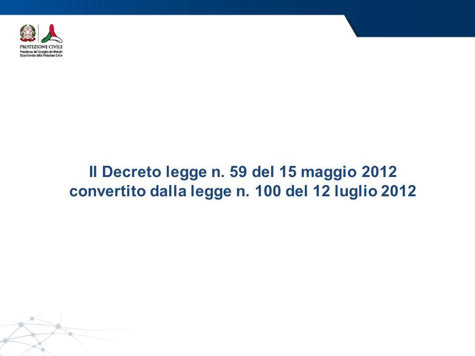 Il Decreto legge n. 59 del 15 maggio 2012