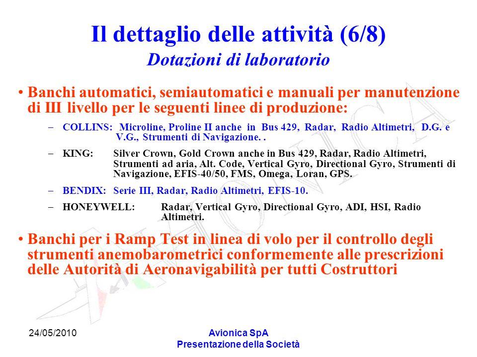 Il dettaglio delle attività (6/8) Dotazioni di laboratorio
