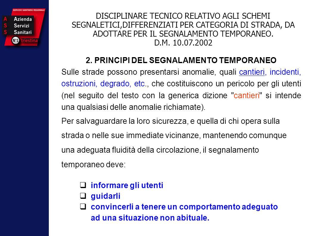 2. PRINCIPI DEL SEGNALAMENTO TEMPORANEO
