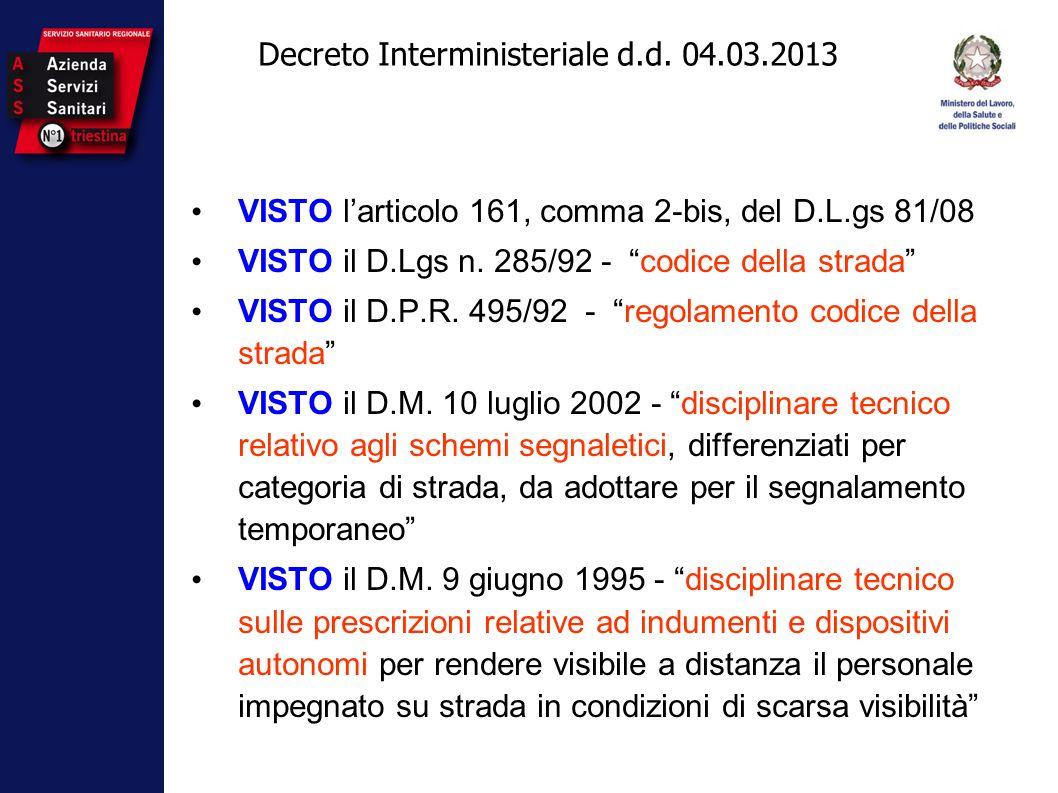 Decreto Interministeriale d.d. 04.03.2013