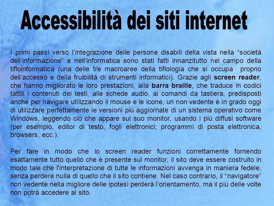 Accessibilità dei siti internet